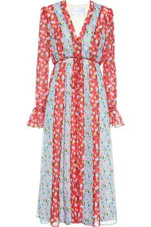 Carolina Herrera Floral crêpe midi dress