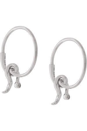 Maria Black 14kt gold diamond Fall hoop earrings