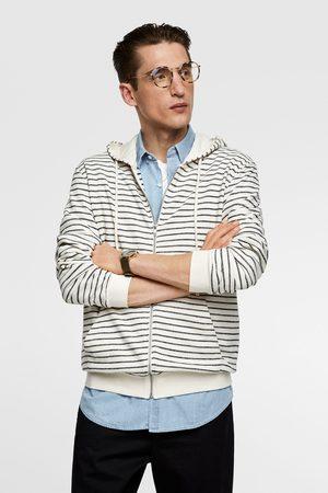 Zara Men Hoodies - Striped hoodie