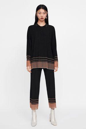 Zara Oversized striped polo shirt