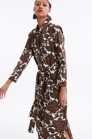 Zara Belted floral print tunic