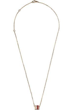 Boucheron 18kt white, yellow and rose gold Quatre Mini Ring pendant necklace