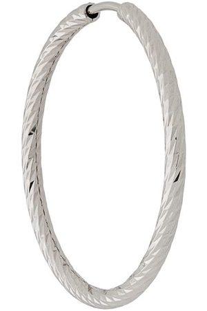 Maria Black 14kt white gold 25mm Alba hoop earring