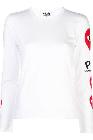 Comme des Garçons Logo heart sweatshirt