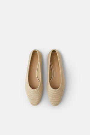 Zara Raffia flat shoes