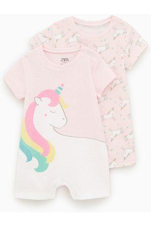 Zara 2-pack of unicorn sleepsuits