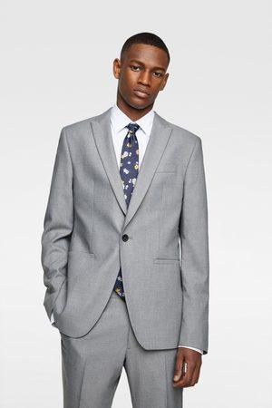 Zara Textured panama suit blazer