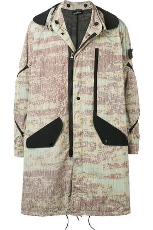 STONE ISLAND SHADOW PROJECT Printed hooded parka coat