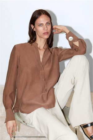 Zara Stand-up collar shirt