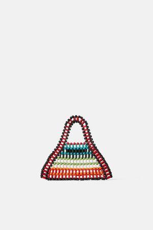 Zara Women Tote Bags - Mini beaded tote bag