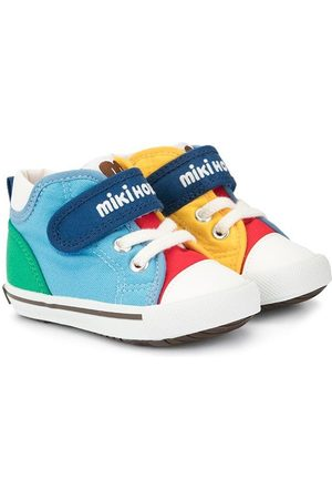 Miki House Logo touch-strap sneakers