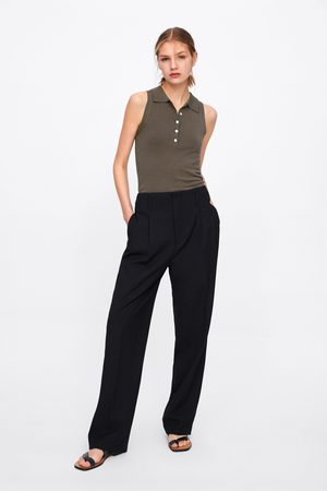 Zara Buttoned knit polo shirt