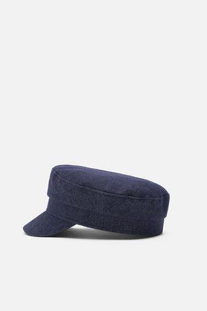 Zara Nautical stripe newsboy cap