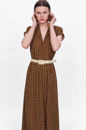 Zara Belted polka dot jumpsuit