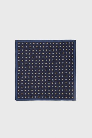 Zara Geometric print pocket square