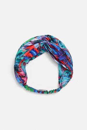 Zara Printed turban-style hairband