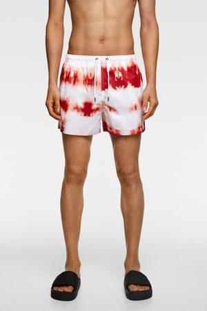 Zara Tie-dye print swimming trunks