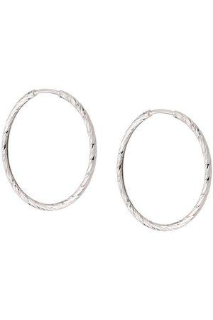 Maria Black 14kt white gold Liv 20mm hoop earrings
