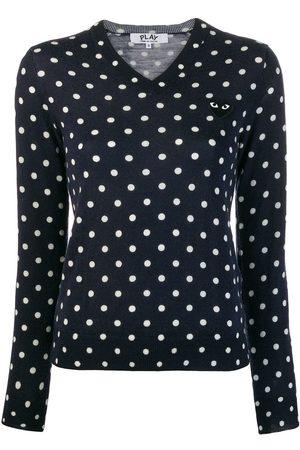 Comme des Garçons Polka-dot knit sweater
