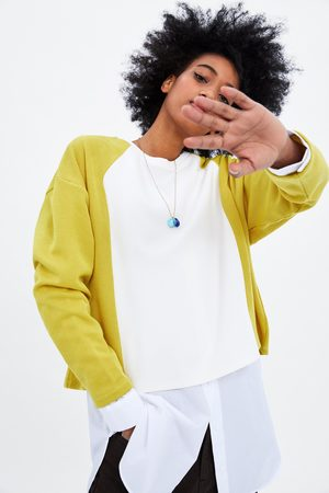 Zara Chunky knit contrasting sweatshirt