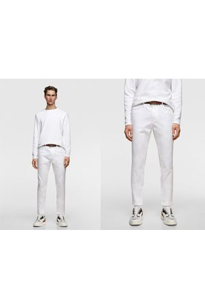 Zara Men Belts - Textured trousers with belt