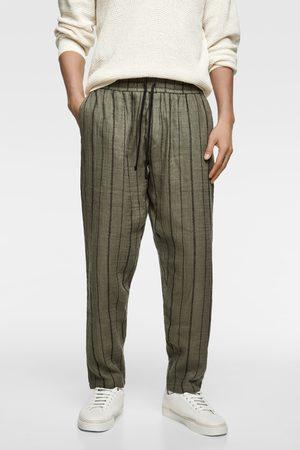 Zara Striped jogging trousers