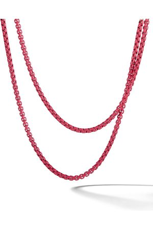 David Yurman 14kt rose gold accented DY Bel Aire chain necklace
