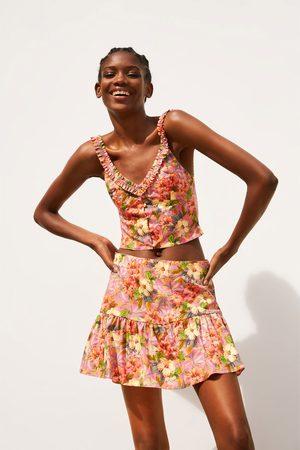 Zara Floral print skort