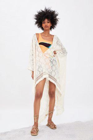 Zara Textured kimono with fringe