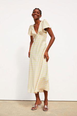 Zara Polka dot dress with satin finish