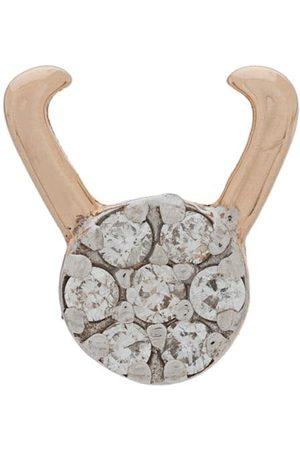 Milka 14kt Capricorn diamond stud earring