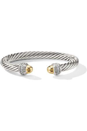 David Yurman 14kt yellow gold Cable diamond cuff