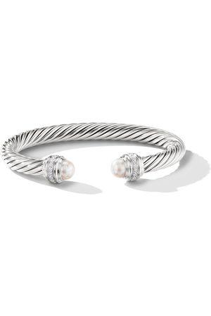 David Yurman Cable pearls and diamond 7mm cuff