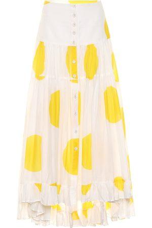 ALEXANDRA MIRO Exclusive to Mytheresa – Penelope dotted cotton maxi skirt
