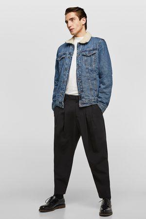 Zara Faux shearling and denim jacket