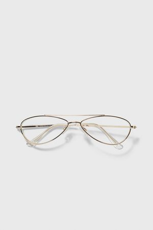Zara Oval metal frame glasses