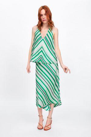 Zara Striped halter top