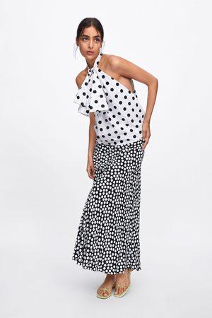 Zara Polka dot and bow top