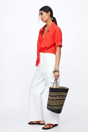 Zara Cropped shirt with knot