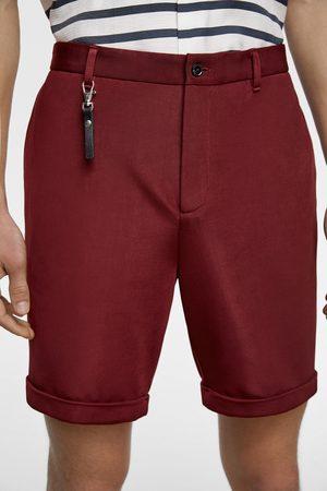 Zara Men Bermudas - Textured weave bermuda shorts