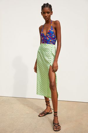 Zara Polka dot skirt with slit