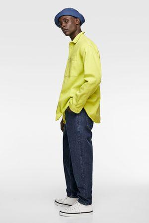 5f054bb7f9 Neon denim shirt