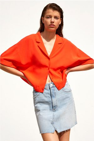 Zara Pleated cropped shirt