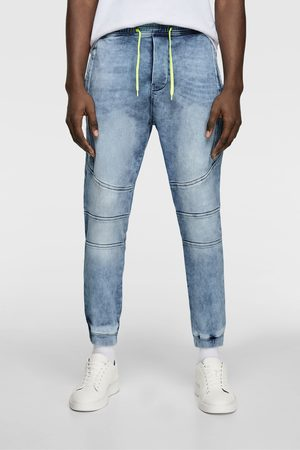 Zara Soft denim jogging trousers
