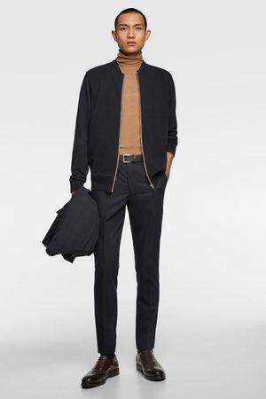 Zara Zip-up textured cardigan