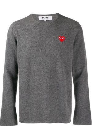 Comme des Garçons Appliqué heart sweater
