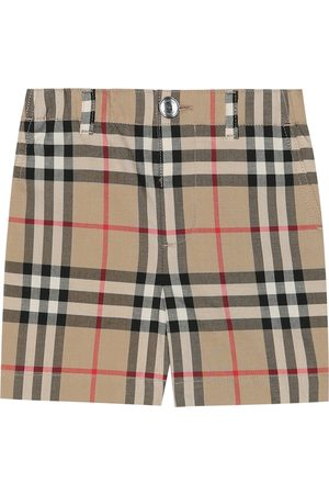 Burberry Baby Check cotton shorts
