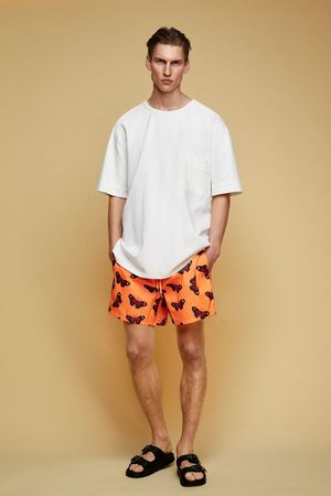 Zara Butterfly print swimming trunks
