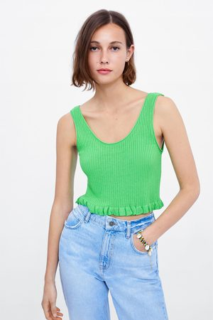 Zara Frilled crop top