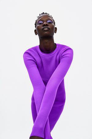 Zara Cut-out knit dress